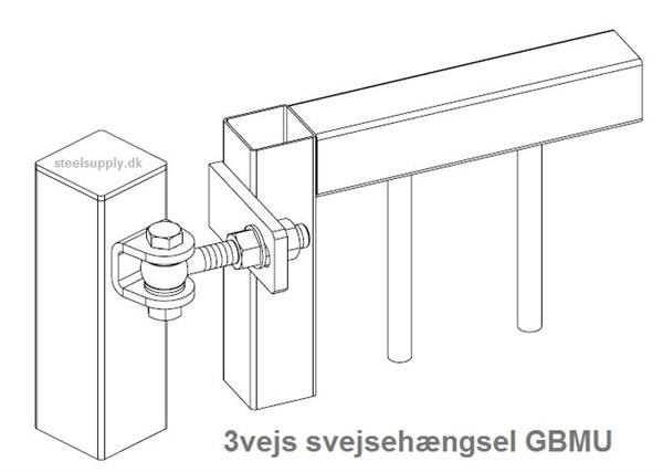 SVEJSEHÆNGSLER for Porte og Låger, 3-Vejs justerbare, Locinox
