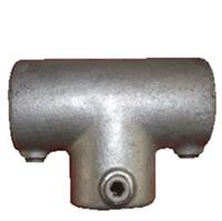 "CLAMPS, Rør samle fittings: Langt T stk. 34 mm 104B 1"" - Gelænder fitting, Clamps"