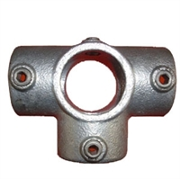 "Gelænder fitting, Clamps: T-stk med sideudgang 42,4 mm 176C 1 1/4"" - Rør samle fittings"