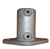 "Gelænder fitting, Clamps: Bundflange 42,4 mm 132C 1 1/4"" - Rør samle fittings"