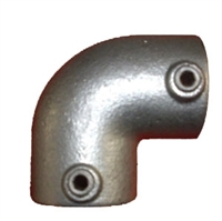 "Gelænder fitting, Clamps: Vinkel 90 gr. 42,4 mm 125C 1 1/4"" - Rør samle fittings"