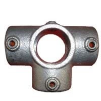 """Gelænder fitting, Clamps: T-stk med sideudgang 48,3 mm 176D 1 1/2"""" - Rør samle fittings"""