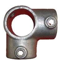 """Gelænder fitting, Clamps: Hjørne 3-vejs 60,3 mm 116E 2"""" - Rør samle fittings"""
